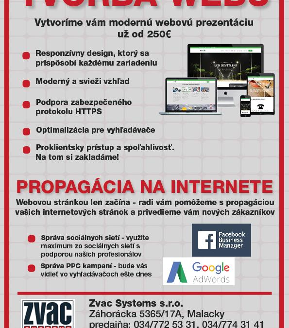 Tvorba webu už od 250€